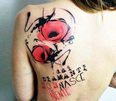 Wild poppies tattoo by Stefano Galati