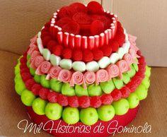#tarta de #chuches