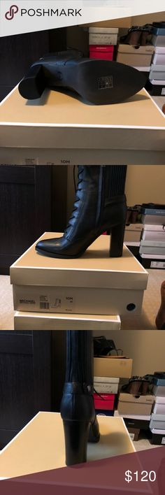 d27bfe5c094f Shop Women s MICHAEL Michael Kors Black size 10 Ankle Boots   Booties at a  discounted price at Poshmark.