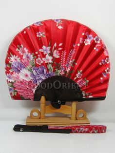 Blooming Love Silk Sakura Fan Write Chinese Characters, Oriental Decor, Asian Home Decor, Chinese Lanterns, Can Lights, Chinese Culture, Red Silk, Cushion Covers, Hand Fan
