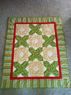 I started this about a year ago and then put it away after just starting to hand quilt it. I got it out again a couple of weeks ago, and it's finished. Quilting Board, Quilting Room, Hand Quilting, Quilting Ideas, Quilting Projects, Quilting Designs, Quilt Patterns, Children's Quilts, Rag Quilt
