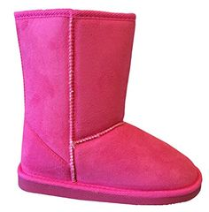 New Girl's Kid's Cute Warm Winter Mid Calf Snow Boots Shoes * For more information, visit image link.