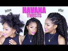 How-to: Havana Twists on Natural Hair | Jumbo Marley Twists - YouTube