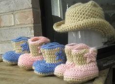 Ravelry  Cowboy Hat and Boots Set pattern by Elizabeth Alan Cowboy Hats 07171e7993bd