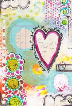 Find Your Heart...an art journal page