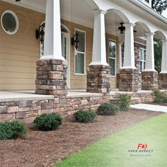 You don't need Ryan Gosling from The Notebook to make this front porch look dreamy! Just add faux stone and vuala!