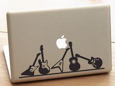 macbook pro guitar decal guitar decal by dadavinylsanddesigns