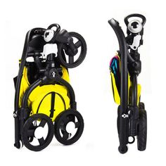 Such a practical fold on the CMYK Zen Stroller by bloom!  Great running stroller for a small apartment.