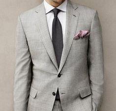 Brioni Two-Button Suit via Fancy Formal Fashion, Men's Fashion, Gray Suits, Nice Dresses, Dresses For Work, Man About Town, Dapper Gentleman, Men Formal, Well Dressed Men