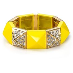 Juicy Couture Perfectly Gifted Pyramid Stretch Bracelet ($68) ❤ liked on Polyvore