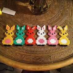 Easter bunnies hama beads by bokpyssel