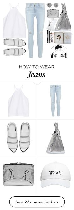 """""""Angie"""" by shyyypieee on Polyvore featuring Milly, Frame Denim, The Row, Alexander Wang, Maison Margiela, FOSSIL, October's Very Own, Edward Bess, casual and simple"""