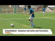 Fussballtraining: Schnelligkeit und Torschuss - Koordination - Kondition - YouTube
