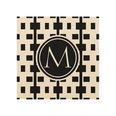 Modern pattern and Elegant Monogram Wood Prints