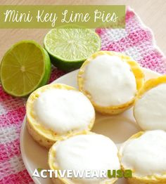These Healthy Gluten-Free Mini Key Lime Pies are the perfect summer dessert with a fraction of the calories of ordinary key lime pie! Love how each pie is an individual serving - it's impossible to over-eat!
