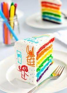 Love the bright colors. Cute cake!!