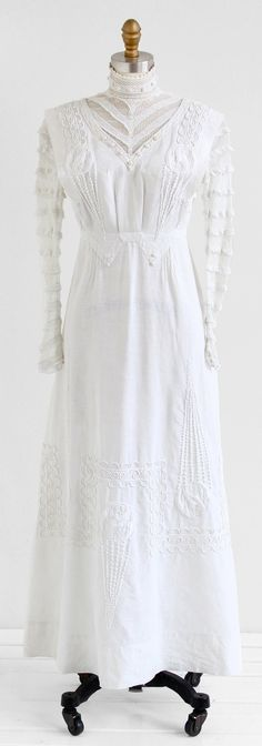 antique Edwardian dress / 1900s wedding dress / by RococoVintage