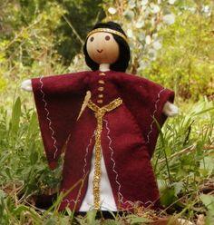 Natural Waldorf Dollhouse Queen Doll