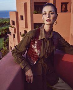 Ophelie Guillermand | Neutral Fashion Editorial | Harper's Bazaar