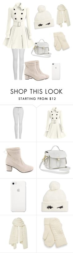 """""""Ecru"""" by dorota-kujawa ❤ liked on Polyvore featuring 2LUV, The Cambridge Satchel Company, Kate Spade and I Love Mr. Mittens"""