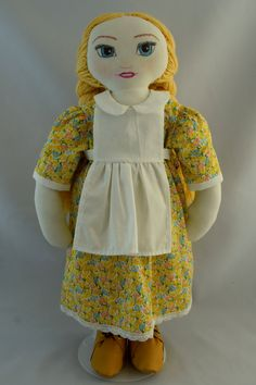 Mimosa, beautiful hand made rag doll. by ParisJavaDolls on Etsy