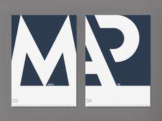Typographic calendar on Behance
