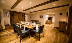 Chalet 53 is a luxury ski chalet in St Anton exclusively run by Kaluma Ski. A private apartment in the heart of St Anton. Bedroom With Ensuite, Ensuite Bathrooms, Living Area, Living Spaces, St Anton, Stone Interior, Dining Room, Dining Table, Open Fireplace