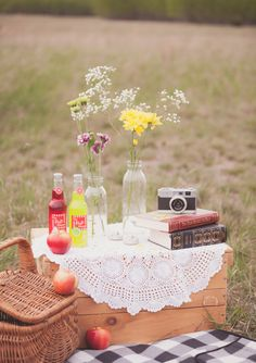 picnic engagement shoot | photo by CoJo Photo | 100 Layer Cake