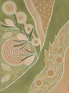 Indigenous Australian Art, Indigenous Art, Botanical Illustration, Illustration Art, As Time Passes, Aboriginal Artwork, Nature Artwork, Cool Wallpaper, Border Print