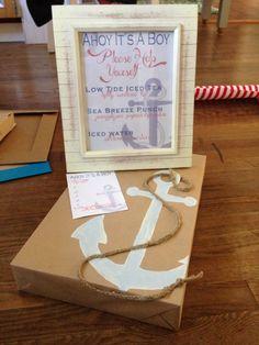DIY Ahoy its a Boy! Baby shower decor.