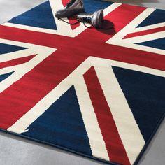 Union Jack rug....just yes.