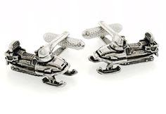 Darkened finish snowmobile cufflinks with presentation box $39.99