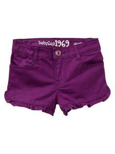 Gap | Ruffle denim shortie shorts