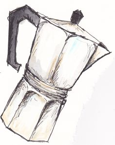 turns out I like drawing coffee pots as well...  http://traceyfletcherking.blogspot.com.au/2012/12/summer-studio-time.html