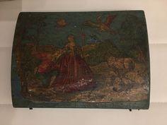 Boite à quadrille avec 4 boites de jetons, bois peint scènes galantes XVIIIème | eBay