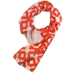 Beau Monde Organics by Stephanie Gale - 'Alhambra-Scarlet' Organic Scarf, $87.00 (http://beaumondeorganics.com/alhambra-scarlet-organic-scarf/)