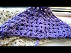Crochet Lessons - How to work a triangle based on the granny square - Part 1