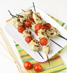 Pesto Yogurt Chicken Kebabs