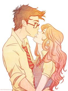 just realized that Clary and Simon totally look like Lily and James o.O  we'll stay forever this way by *viria13 on deviantART James and Lily Potter