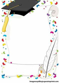 kindergarten graduation design for progress report Graduation Clip Art, Kindergarten Graduation, Graduation Cards, Page Borders Design, Border Design, School Border, Boarders And Frames, School Frame, Borders For Paper