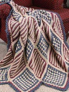 Crochet Afghans - Assorted Crochet Afghan Patterns - Heartland Comforts Lapghan