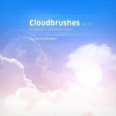 リアルな雲を描くことができる無料Photoshopブラシ素材、150個あつめました。