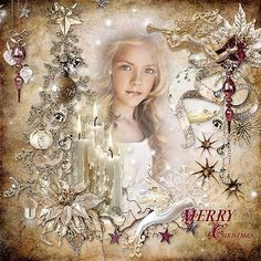 Christmas Angels by Doudou s Design http://digital-crea.fr/shop/index.php… Photo Karina Egorova - Lovely Karina use with Permission