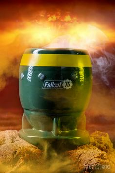 Bombs away! Make sure you're prepared at all times in case of an enemy strike with this official Fallout 76 Bomb Mug. Expertly crafted to replicate a realistic-looking bomb weapon from the famous Fallout franchise, this snazzy mug combines khaki green wit Fallout Props, Fallout Game, Armed Conflict, Shelter, Coffee Mugs, Video Games, Gaming, Batman, Geek