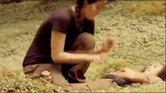 When Katniss tickled Rue.