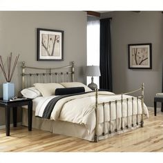 Lowest price online on all Fashion Bed Leighton Bed in Antique Brass - B3128X