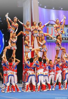 Bangkok, Thailand's Cheer Team...amazing to watch in person....not a single person sitting at Worlds when they are on the floor