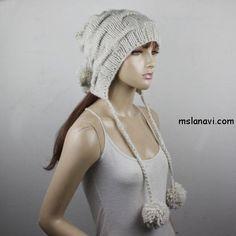 Интересный снуд и шапка спицами