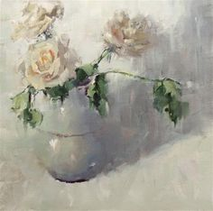 """Daily Paintworks - """"A Rose Again"""" by Gina Brown"""