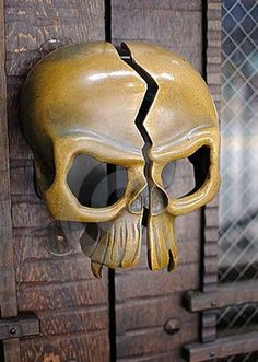 Photo about A brass skull door handle. Image of evil, gothic, door - 13180905 Door Knobs And Knockers, Knobs And Handles, Door Handles, Door Pulls, Cool Doors, Unique Doors, Yellow Doors, Door Detail, Door Furniture